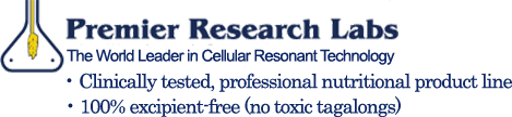 Premier Research Lab. The World Leader in Cellular Resonant Technology. Clinically tested, professional nutritional product line. 100% excipient-free (no toxic tagalongs)